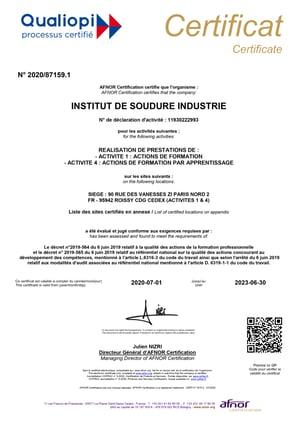 certificat qualiopi 1