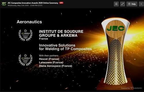 JEC Composites Innovation Awards 2020